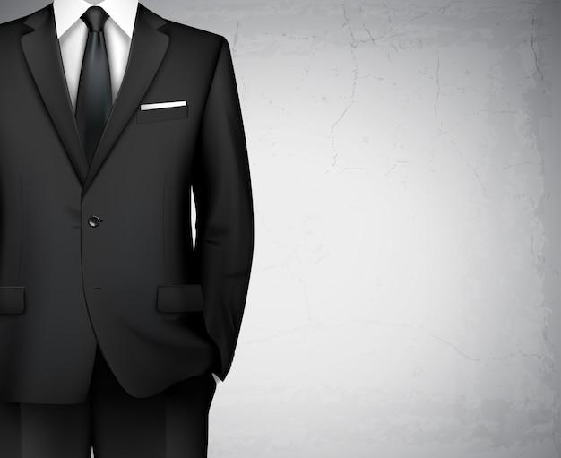 Fondo de traje de hombre de negocios con copyspace