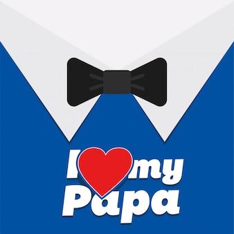 Fondo de traje y pajarita de feliz día del padre