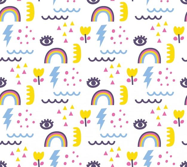 Fondo transparente abstracto lindo doodle
