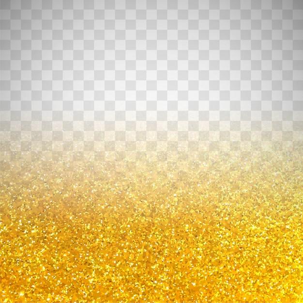 Fondo transparente de resplandecer dorado