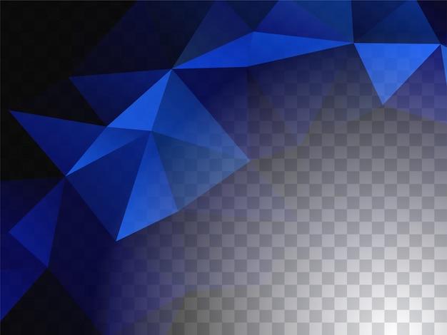 Fondo transparente de diseño geométrico abstracto
