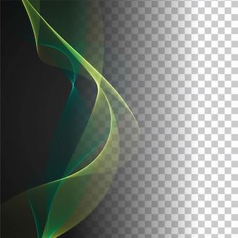Fondo transparente de diseño moderno de onda