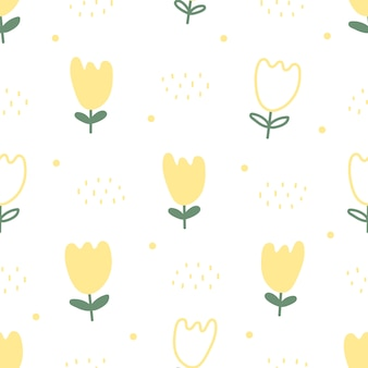 Fondo transparente de flores amarillas