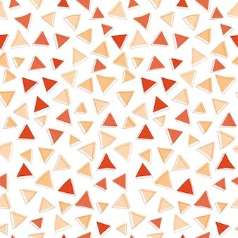 Fondo transparente de forma de triángulo rojo abstracto