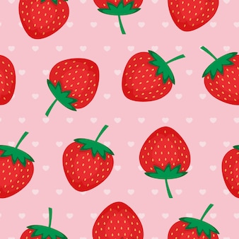 Fondo transparente con fresas rojas.