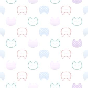 Fondo transparente de gato lindo