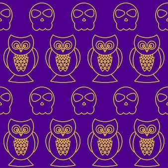 Fondo transparente de halloween. elementos abstractos del bosquejo de halloween aislados en la cubierta púrpura. patrón hecho a mano para tarjeta de diseño, invitación, póster, pancarta, menú, cuaderno, álbum, etc.
