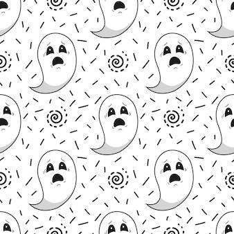Fondo transparente de halloween con fantasmas