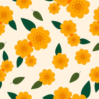 Fondo transparente lindo patrón floral fresco