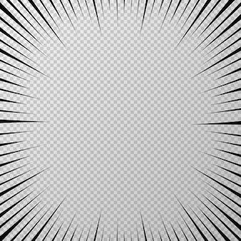 Fondo transparente pop negro sobre fondo transparente ilustración vectorial