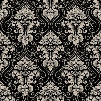 Fondo transparente de vector damasco. adorno de damasco antiguo de lujo clásico, textura perfecta victoriana real para fondos de pantalla, textiles, envoltura.