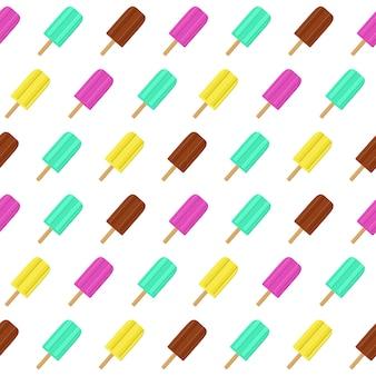 Fondo transparente de verano abstracto con helado