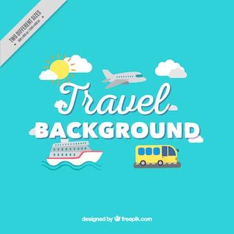 Fondo de transportes para viajar
