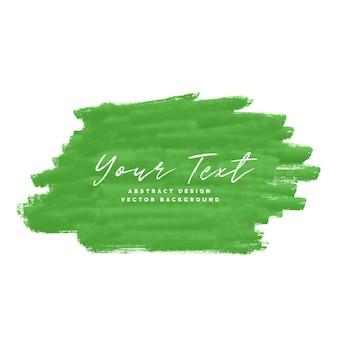 Fondo de trazo de pincel abstracto verde