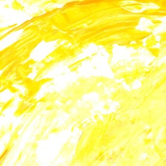 Fondo de trazo de pincel acrílico amarillo y blanco con textura