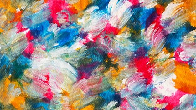Fondo de trazo de pincel acrílico colorido