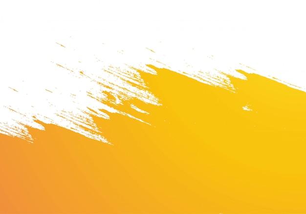 Fondo de trazo de pincel acuarela naranja abstracto