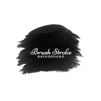 Fondo de trazo de pincel acuarela negro abstracto