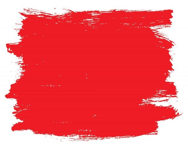 Fondo de trazo de pincel rojo