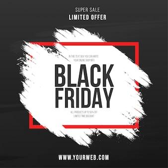 Fondo de trazo de pincel de viernes negro moderno
