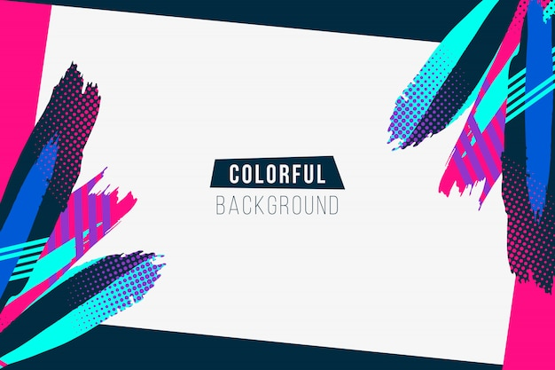 Fondo de trazos de colores