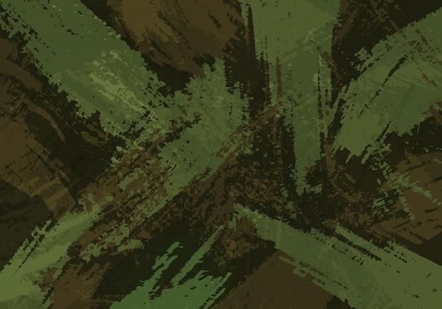Fondo de trazos de pincel de camuflaje