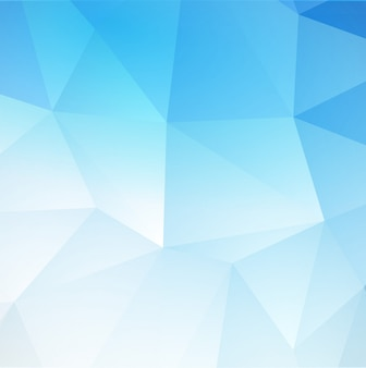Fondo triangular abstracto azul.