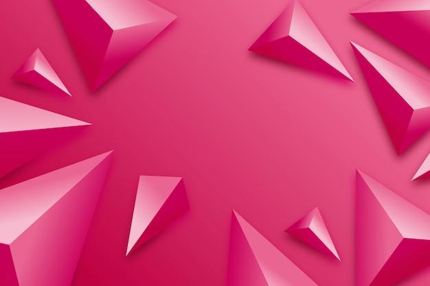 Fondo triangular con colores vivos.