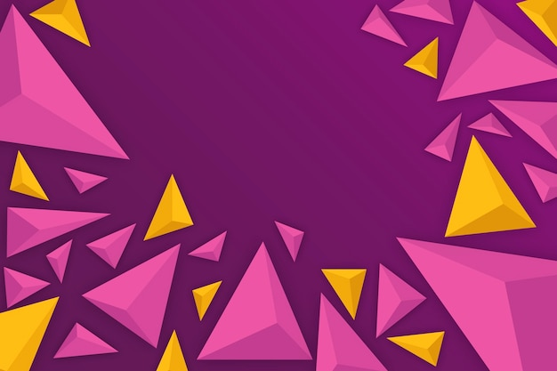 Fondo de triángulo 3d con colores vivos