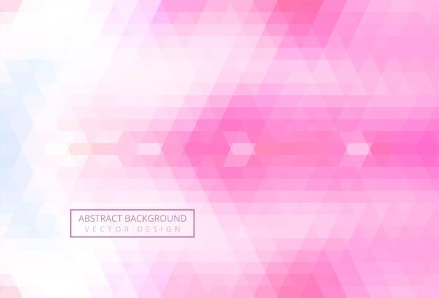 Fondo de triángulo abstracto rosa