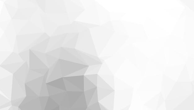 Fondo de triángulo blanco bajo poli