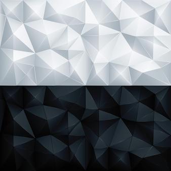 Fondo de triángulo geométrico poligonal abstracto polígono
