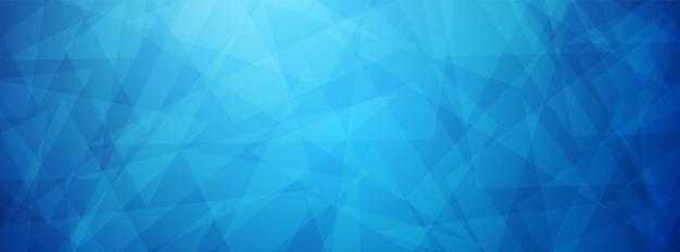 Fondo de triángulo superpuesto azul abstracto