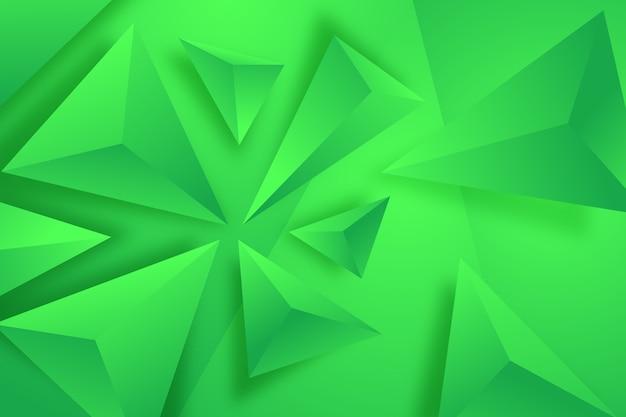 Fondo de triángulo verde 3d