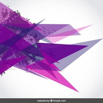 Fondo con triángulos de color púrpura y manchas