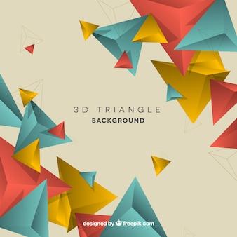 Fondo de triángulos en estilo 3d