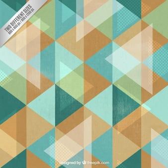 Fondo de triángulos en estilo abstracto