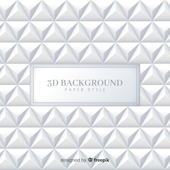 Fondo tridimensional de papel