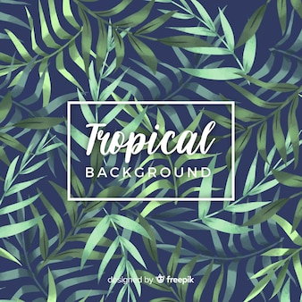 Fondo tropical en acuarela con estilo elegante