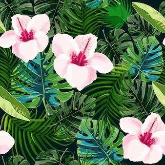Fondo tropical brillante