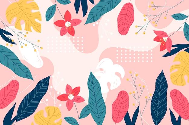 Fondo tropical colorido con espacio vacío
