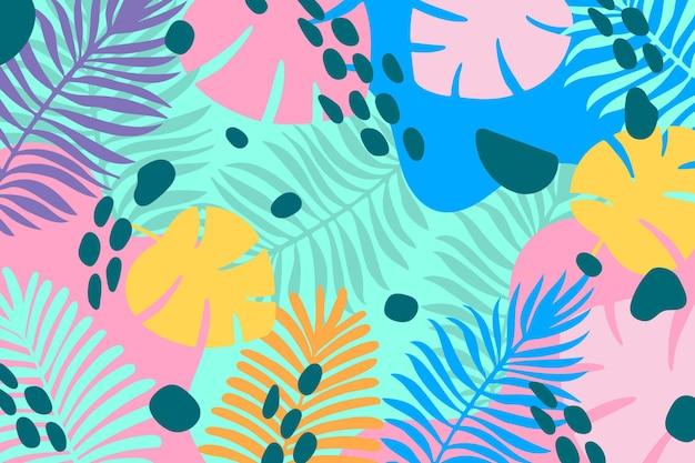 Fondo tropical colorido para zoom