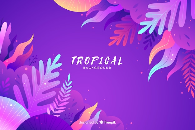 Fondo tropical con degradado