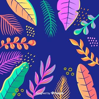 Fondo tropical dibujado a mano
