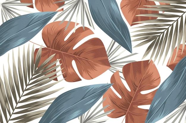 Fondo tropical de diseño vintage