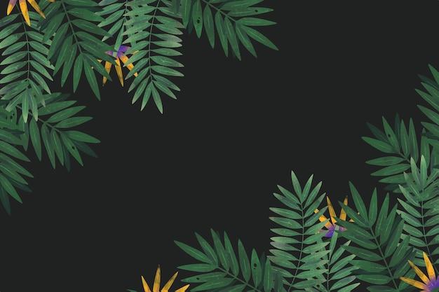 Fondo tropical con espacio vacío