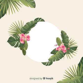 Fondo tropical natural con hojas