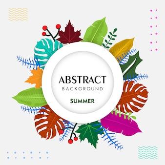 Fondo tropical de verano abstracto colorido
