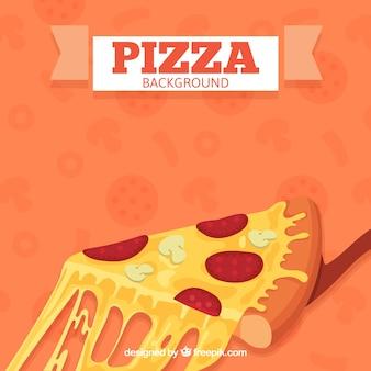 Fondo de trozo de pizza con queso