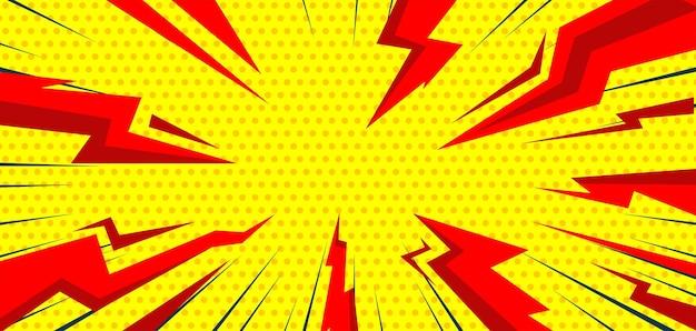 Fondo de trueno flash en estilo cómic